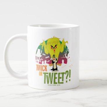 """""""Twick or Tweet"""" TWEETY™ & SYLVESTER™ Giant Coffee Mug"""
