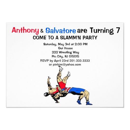 Wrestling Birthday Cards