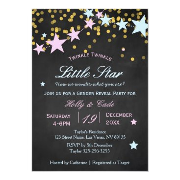Twinkle Twinkle What You Are Gender Reveal Card
