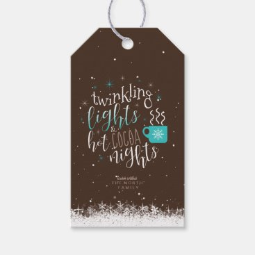 Twinkling Lights Hot Cocoa Nights ID593 Gift Tags