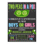 Twins Gender Reveal Peas in a Pod Invitation