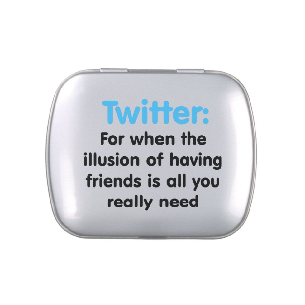 Twitter: Illusion of Friends Candy Tin