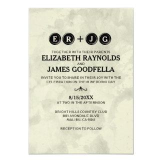 Typewriter Keys Wedding Invitations