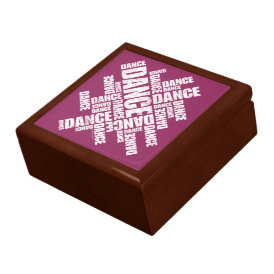 Typographic Dance (Distressed) Keepsake Box