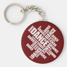 Typographic Dance (Distressed) Keychain