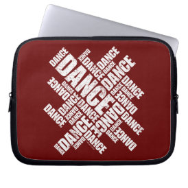 Typographic Dance (distressed) Laptop Sleeve