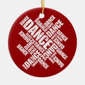 Typographic Dance (Distressed) ornament