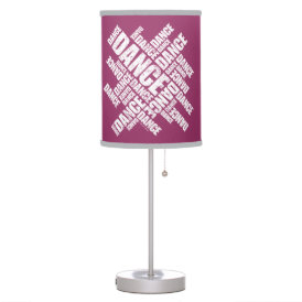 Typographic Dance (Distressed) Table Lamp