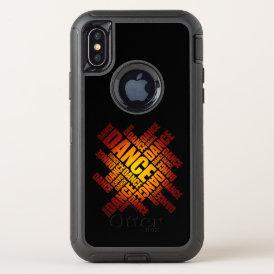 Typographic Dance (Fire) OtterBox Defender iPhone X Case