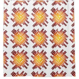 Typographic Dance (fire) Shower Curtain