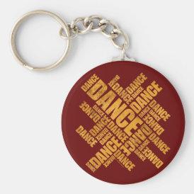 Typographic Dance (Rust) Keychain