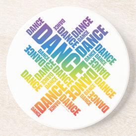 Typographic Dance (Spectrum) coaster