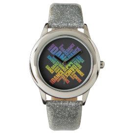 Typographic Dance (Spectrum) Watch