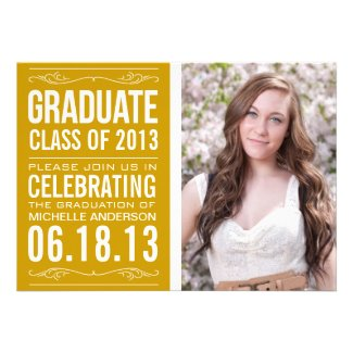 Typography Graduation Invitation
