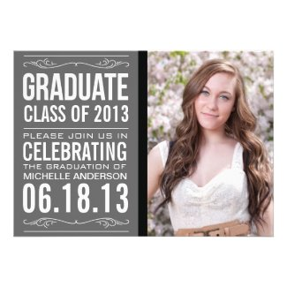TTypography Graduation Invitation Template
