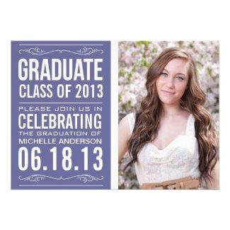 Typography Graduation Invitation Template
