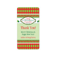 Ugly Christmas Sweater Party Xmas Favor Gift Tags Personalized Address Labels