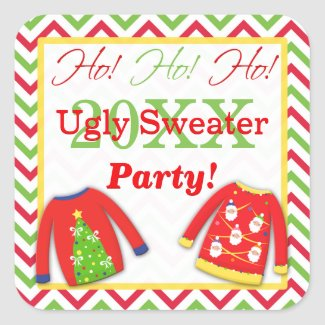 Ugly Christmas Sweaters Ho! Ho! Ho! Sticker