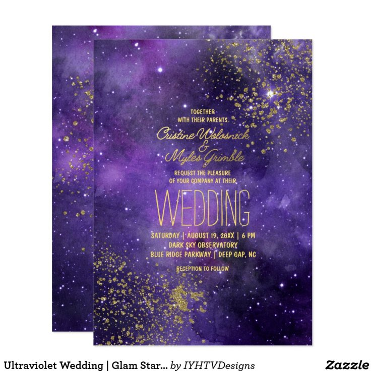 Ultraviolet Wedding | Glam Starry Night Card