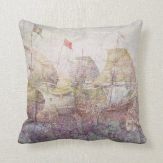 Under Full Sail (pink) Pillows