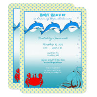 Under the Sea Baby Boy Shower Announcement