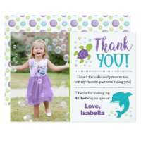 Under the Sea Birthday Thank You Card