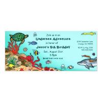 Under the Sea- Ocean Life Invitation