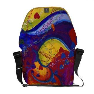 Underground – Crimson & Iris Hearts rickshawmessengerbag