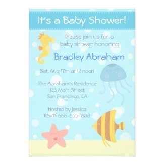 Underwater theme Baby Shower Invite