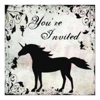 Unicorn and Fairies Magical Fairy Birthday Invite