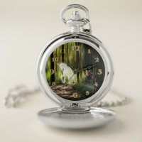 Unicorn and Fairy Pocket Watch