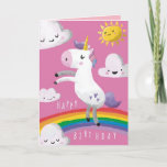 ❤️ Unicorn Birthday Card