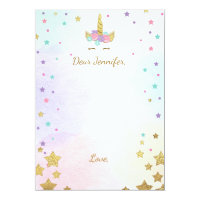 Unicorn Birthday guestbook cards Time Capsule Girl