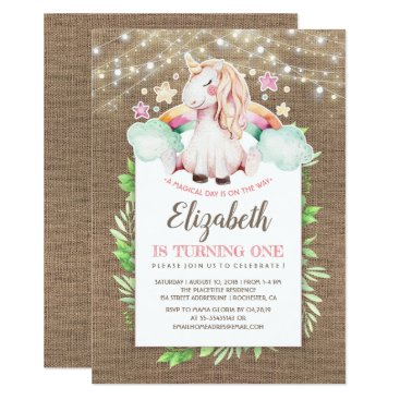 Unicorn Birthday | Magical and Rustic Card