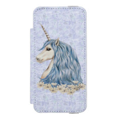 Unicorn Blue Hair iPhone SE/5/5s Wallet Case