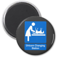 Unicorn Changing Station Magnet