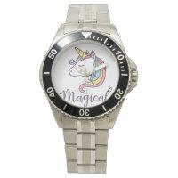unicorn design graphic cool beautiful watch