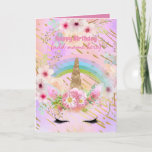 Unicorn Fantasy - Personalized Girls Birthday Card