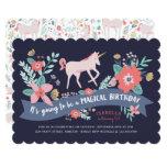 ❤️ Unicorn Fields Birthday Party Invite