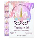 ❤️ Unicorn Glasses Magical STEM Birthday Invitation