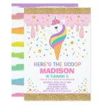 ❤️ Unicorn Ice Cream Invitation Magic Ice Cream Party