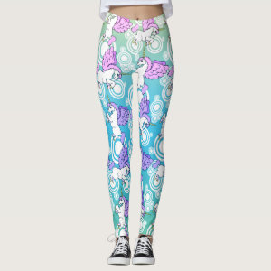 Unicorn Pattern Design Leggings