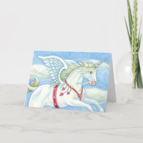 Unicorn Pegasus VALENTINE'S DAY CARD Customize