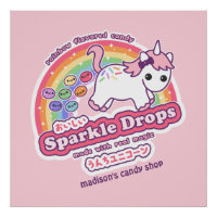 Unicorn Poop Candy Poster