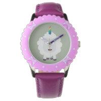 Unicorn Sheep with rainbow Zffz8 Wristwatch
