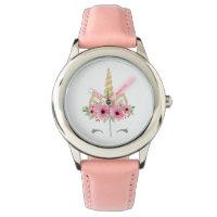 Unicorn Stainless Steel Pink Wrist Watch