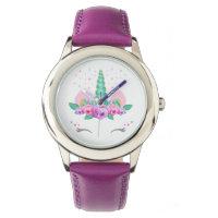 Unicorn Stainless Steel Purple Watch