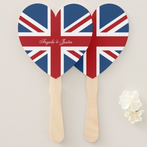Union Jack Flag Wedding Hand Fan