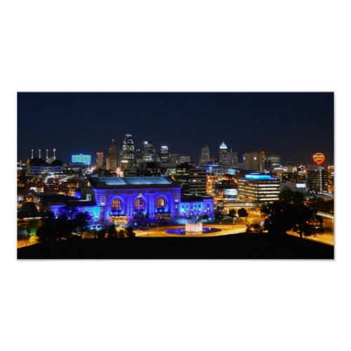Union Station in Blue, Kansas City (19x10)