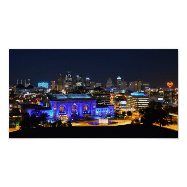 Union Station in Blue, Kansas City (19x10) Print